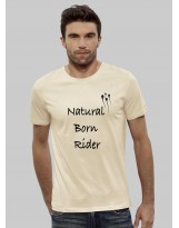 "T-shirt Adulte coton bio Logo ""NATURAL BORN RIDER"""