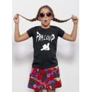 "T-shirt Fille coton Bio logo ""Hang loose"""